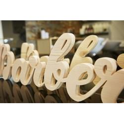 Lettrage et logo en bois 3D -19 mm